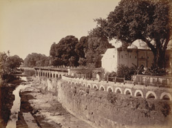 Channel below the Pan Chukki water works, [Aurangabad].